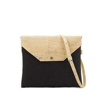 Handtasche Marila aus Kork | schwarz-natur
