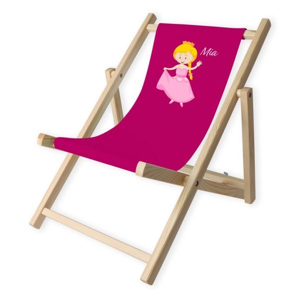 Kinder-Liegestuhl Prinzessin mit Personalisierung