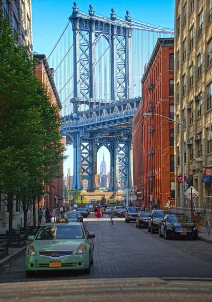 Wandbild New York - Blick von Dumbo (Motiv JR01)