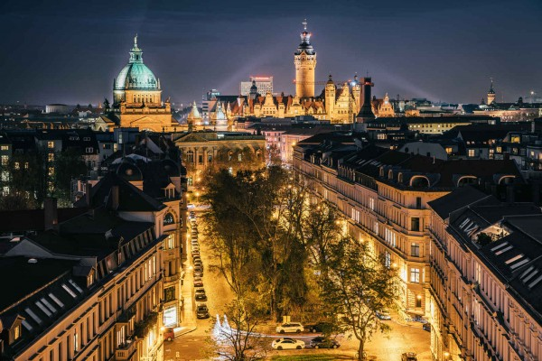 Wandbild Leipzig- Das Leuchten der Stadt (Motiv PK08)