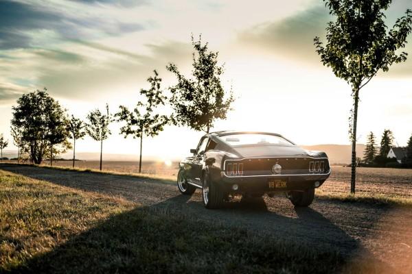 Wandbild 1967 Ford Mustang Fastback GT (Motiv V8 11)