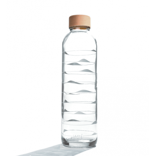 Carry Glastrinkflasche 0,7 l | Ocean Waves Light