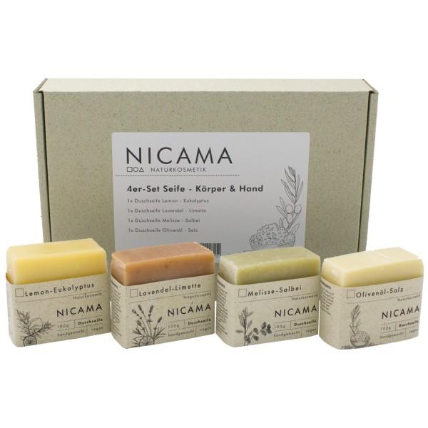 NICAMA 4er-Set Seife