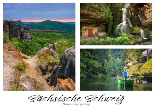 Postkarte Sächsische Schweiz - Wasserfall klein (Motiv PO_SSW_76)