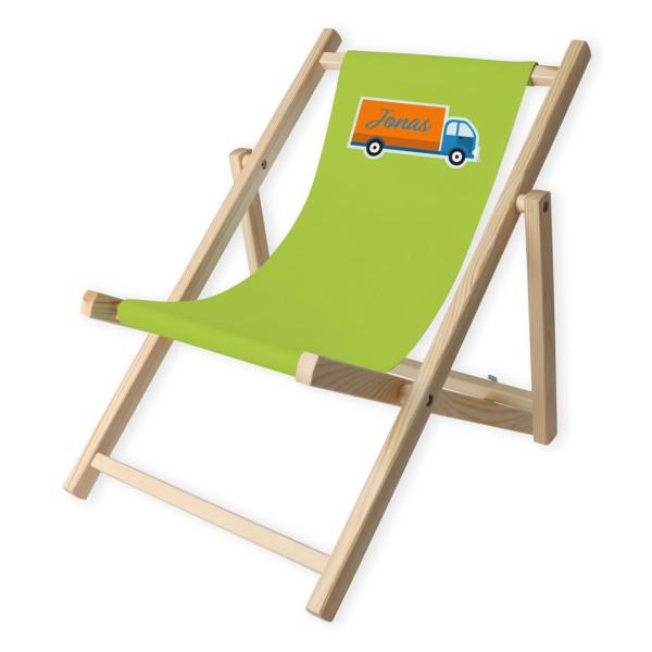 Kinder-Liegestuhl Laster mit Personalisierung
