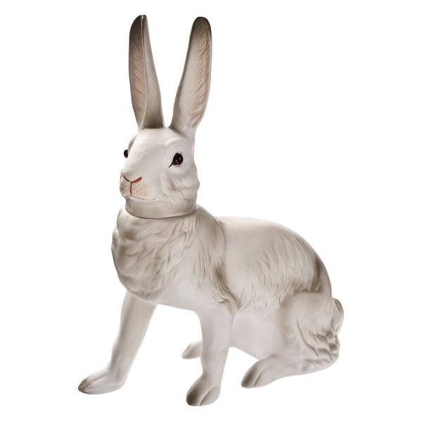 MAROLIN - Großer Füllhase, sitzend in weiß