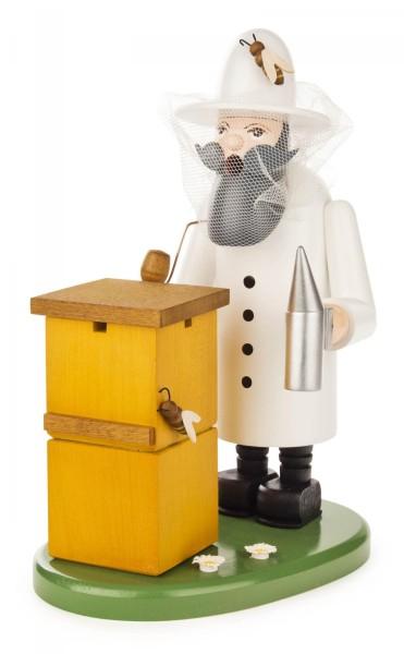 Räuchermann Imker mit Bienenhaus