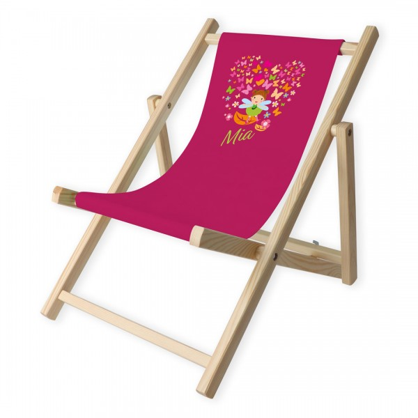 Kinder-Liegestuhl Süße Bübbi mit Personalisierung