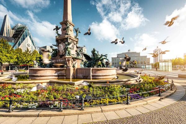 Wandbild Leipzig - Mendebrunnen (Motiv PK10)