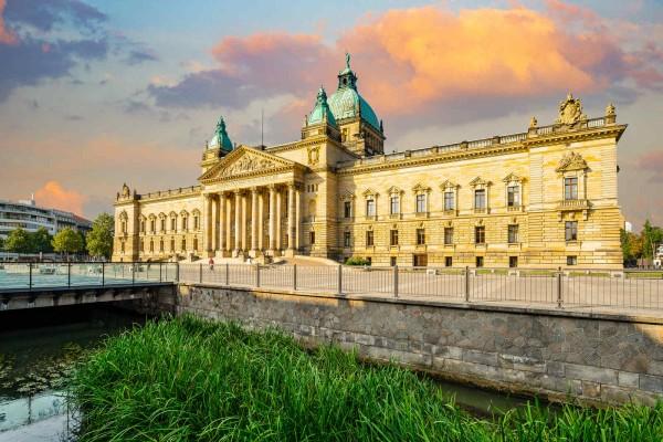 Wandbild Leipzig - Das Bundesverwaltungsgericht (Motiv DML04)