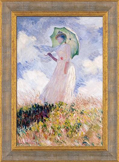 Claude Monet: Bild Frau mit Sonnenschirm (1886), gerahmt