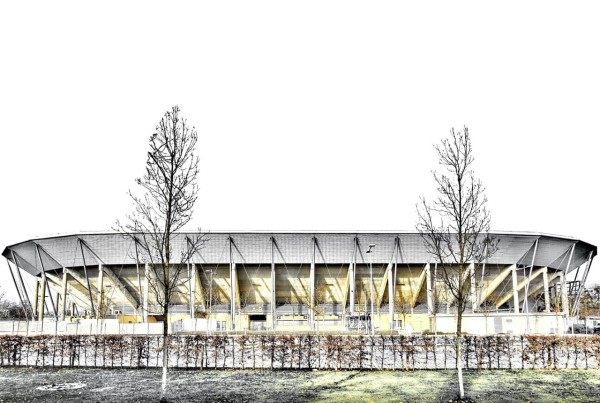 Carsten Linke Kunstdruck - Rudolf Harbig Stadion (Motiv B10)