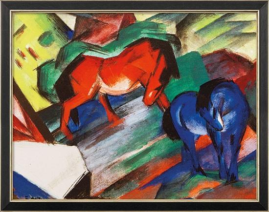 Franz Marc: Bild Rotes und blaues Pferd (1912)