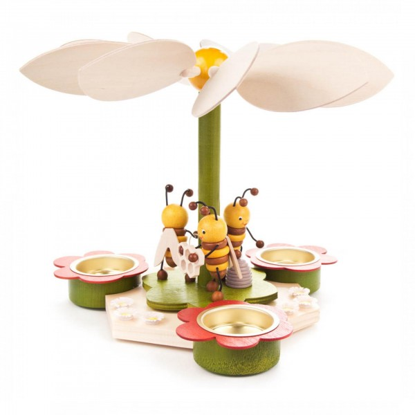 Teelichtpyramide Bienen