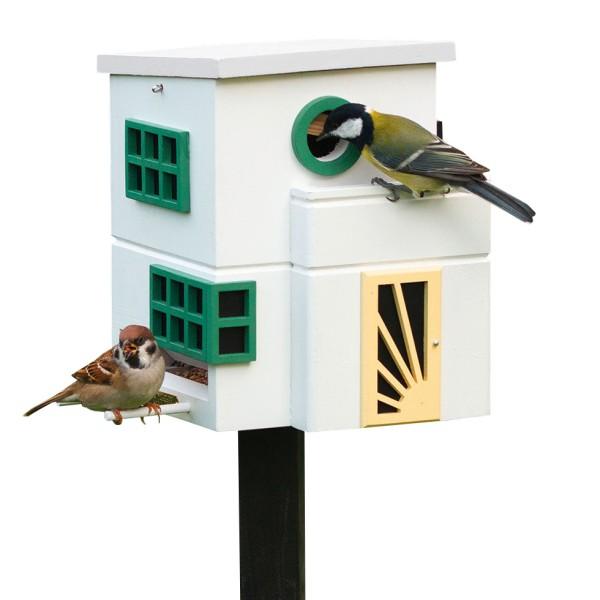 Vogelhaus Futterspender Art Déco