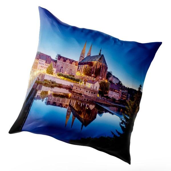 Kissenbezug Görlitz - Peterskirche zur Blauen Stunde (Motiv 00830)