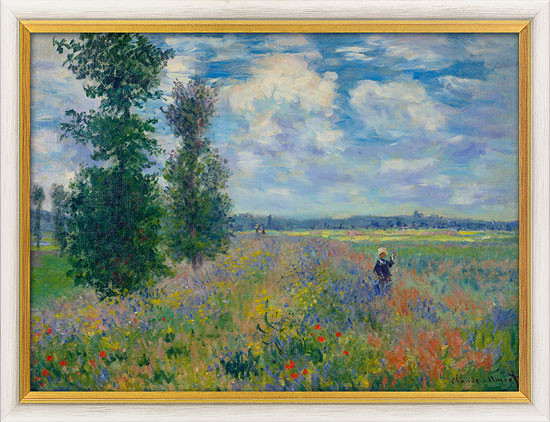 Claude Monet: Bild Les Coquelicots (environs de Argenteuil) - Mohnfeld bei Argenteuil