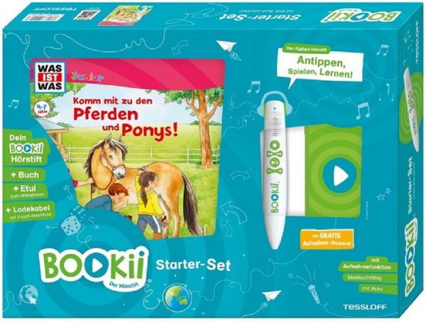 BOOKii® Starter-Set WAS IST WAS Junior Komm mit zu den Pferden und Ponys!