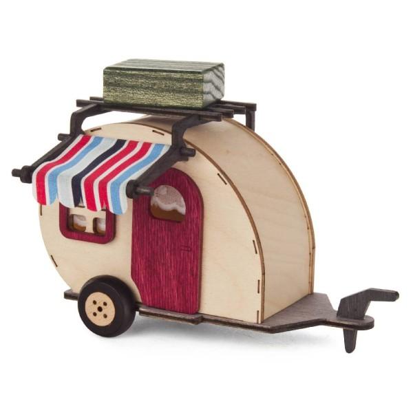 Holzfigur Wohnwagen