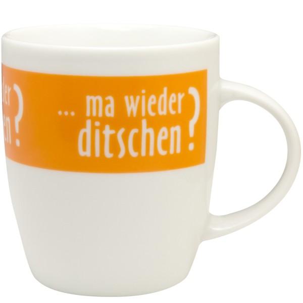 Tasse ma wieder ditschen? - orange