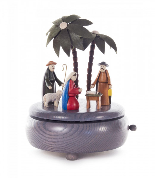 Spieldose mit Christi Geburt, Melodie: Stille Nacht