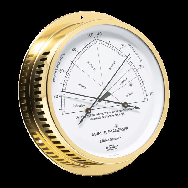 Raum-Klimamesser - Edition Sachsen - Messing poliert