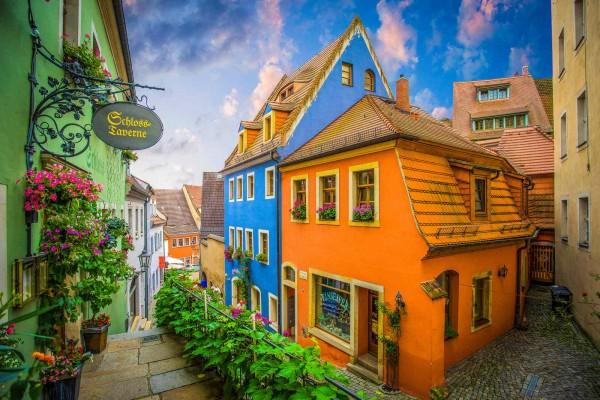Wandbild Meißen - Die Altstadt (Motiv DMMEI38)