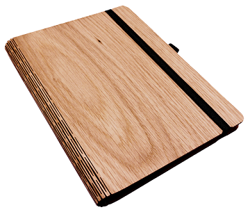 Notizbuch aus Holz - Eiche A6