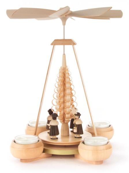 Weihnachtspyramide mit Kurrende, für Teelichte