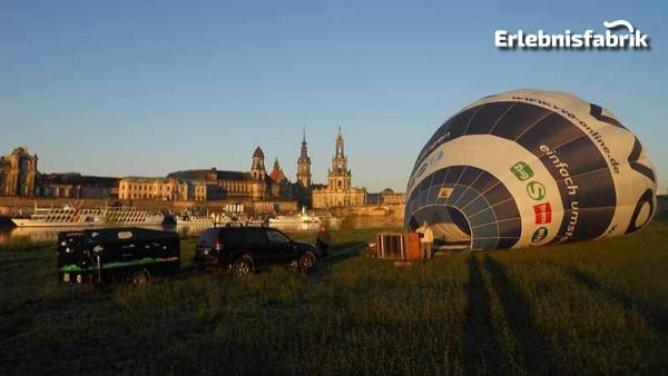 Heißluftballonfahrt mit Frühstück in Sachsen