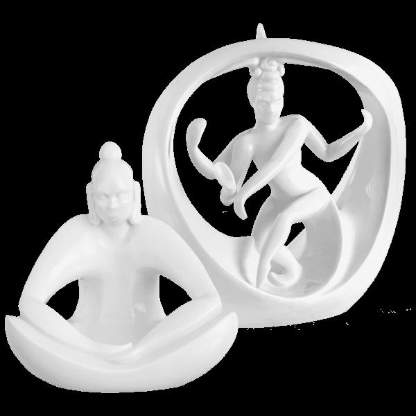 Meissen - Figuren-Set - Buddha und Shiva, 2-tlg.