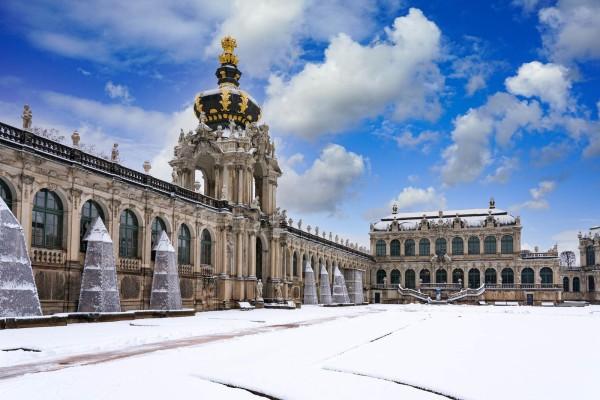 Wandbild Dresden - Winter im Zwinger (Motiv DMDD23)