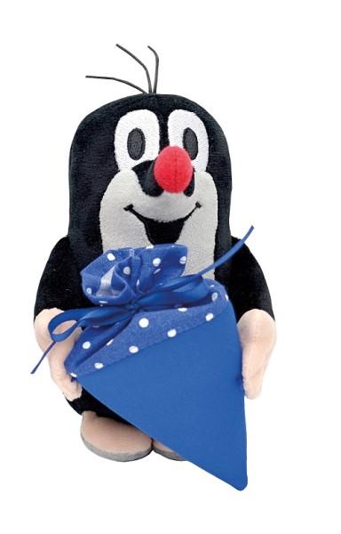 Der kleine Maulwurf - Plüschtier mit blauer Zuckertüte