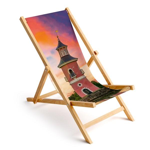 Liegestuhl Moritzburg - Leuchtturm zum Sonnenuntergang (Motiv DMMOR01)