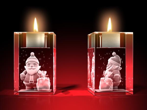 Advents-Teelicht Weihnachtsmann