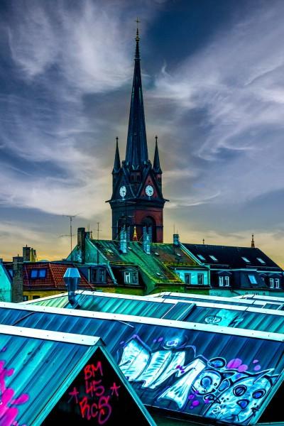 Wandbild Leipzig - Blick auf Dächer im Leipziger Osten (Motiv PZ11)