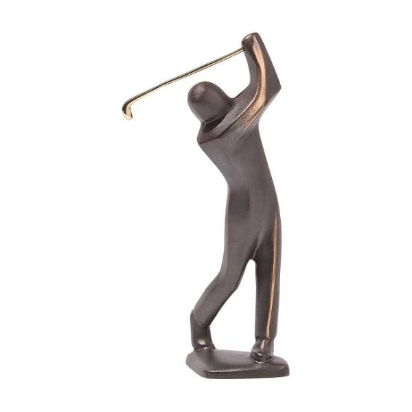 Jutta Römhild: Bronze Skulptur Golfer schlagend