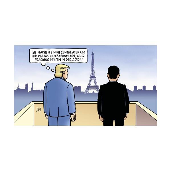 """Kunstdruck """"Trump in Paris"""" - Harm Bengen"""