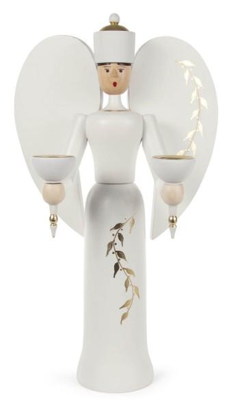 Engel mit floralem Muster weiß/gold