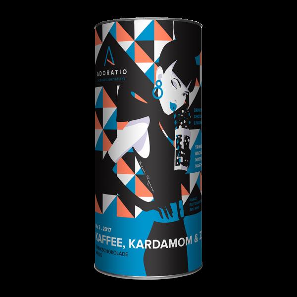 Bio-Trinkschokolade- Kaffee, Kardamom & Zimt