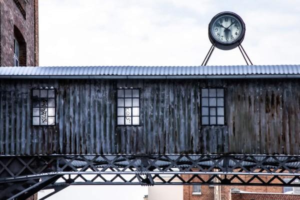 Wandbild Leipzig - Blick auf die Uhr der Baumwollspinnerei (Motiv PZ07)