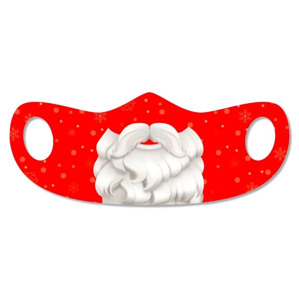 Mund- u. Nasenmaske Weihnachtsmann - Kinder
