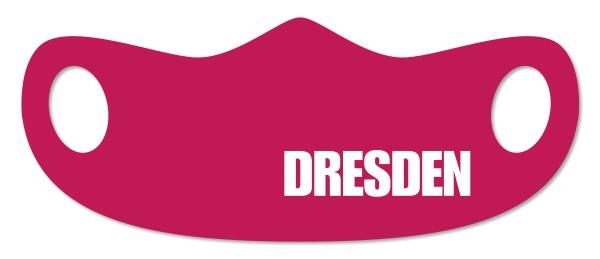 Mund- und Nasenmaske Dresden weinrot