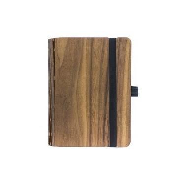 Notizbuch aus Holz - Walnuss A6