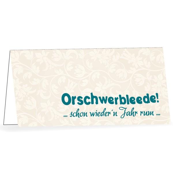 Karte mit Umschlag Orschwerbleede