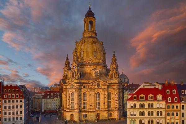 Wandbild Dresden - Die Frauenkirche (Motiv DMDD16)