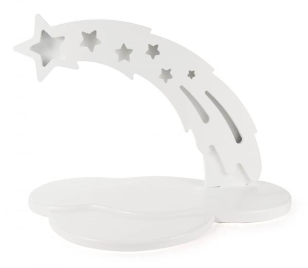Sternbogen weiß mit Vorleger, LED Beleuchtung