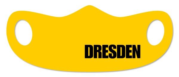 DDL Lokal - Original Sächsisch - Mund- und Nasenmaske - Dresden gelb