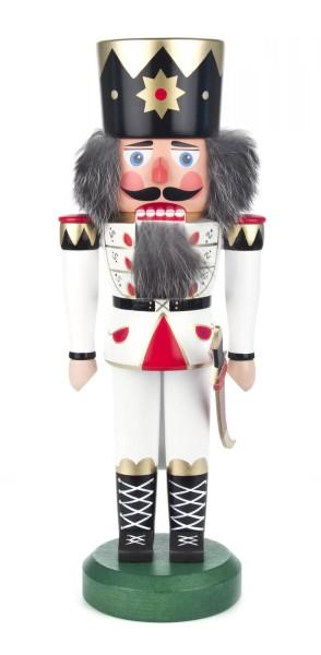 Nussknacker König weiß, 35cm