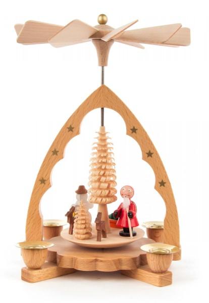 Pyramide Nikolaus natur für Kerzen Durchmesser 10mm